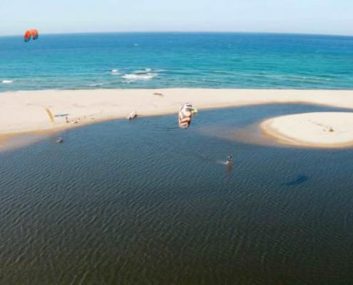 Kitelagune, Kiterevier, Kitespot, Flachwasser, Kitesurfen lernen